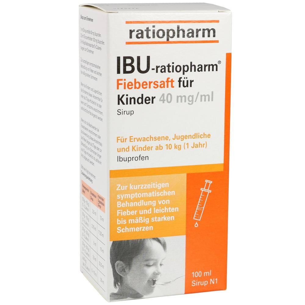 IBU-RATIOPHARM Fiebersaft für Kinder 40 mg/ml