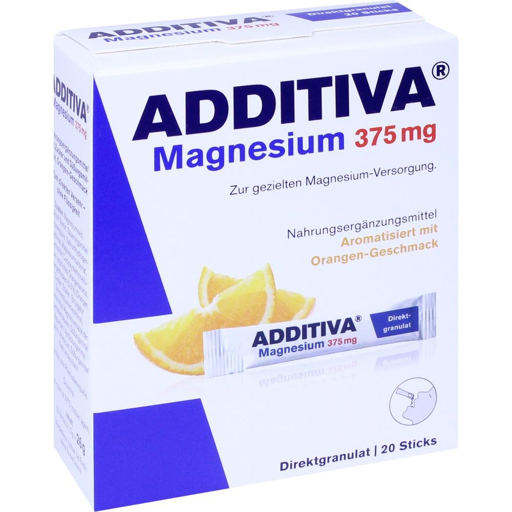 ADDITIVA Magnesium 375 mg Sticks Orange