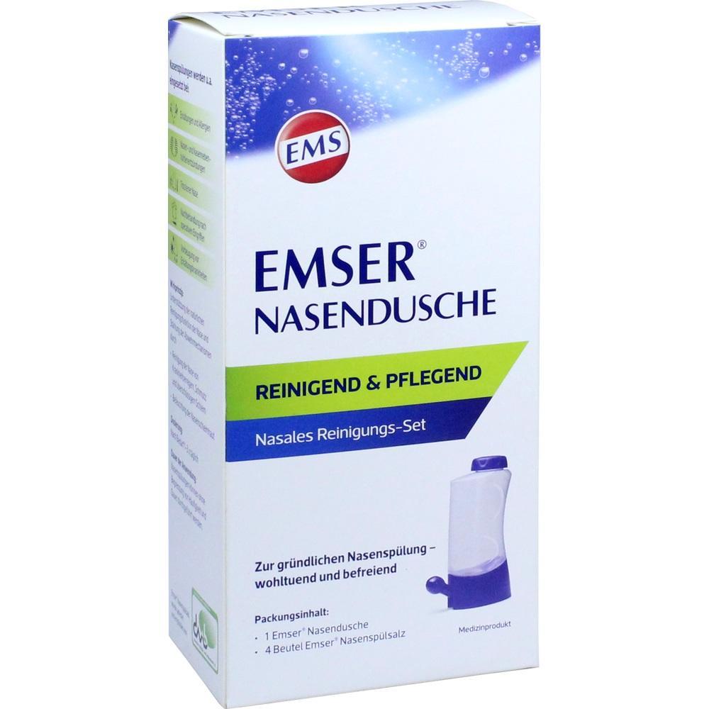 EMSER Nasendusche mit 4 Btl.Nasenspülsalz