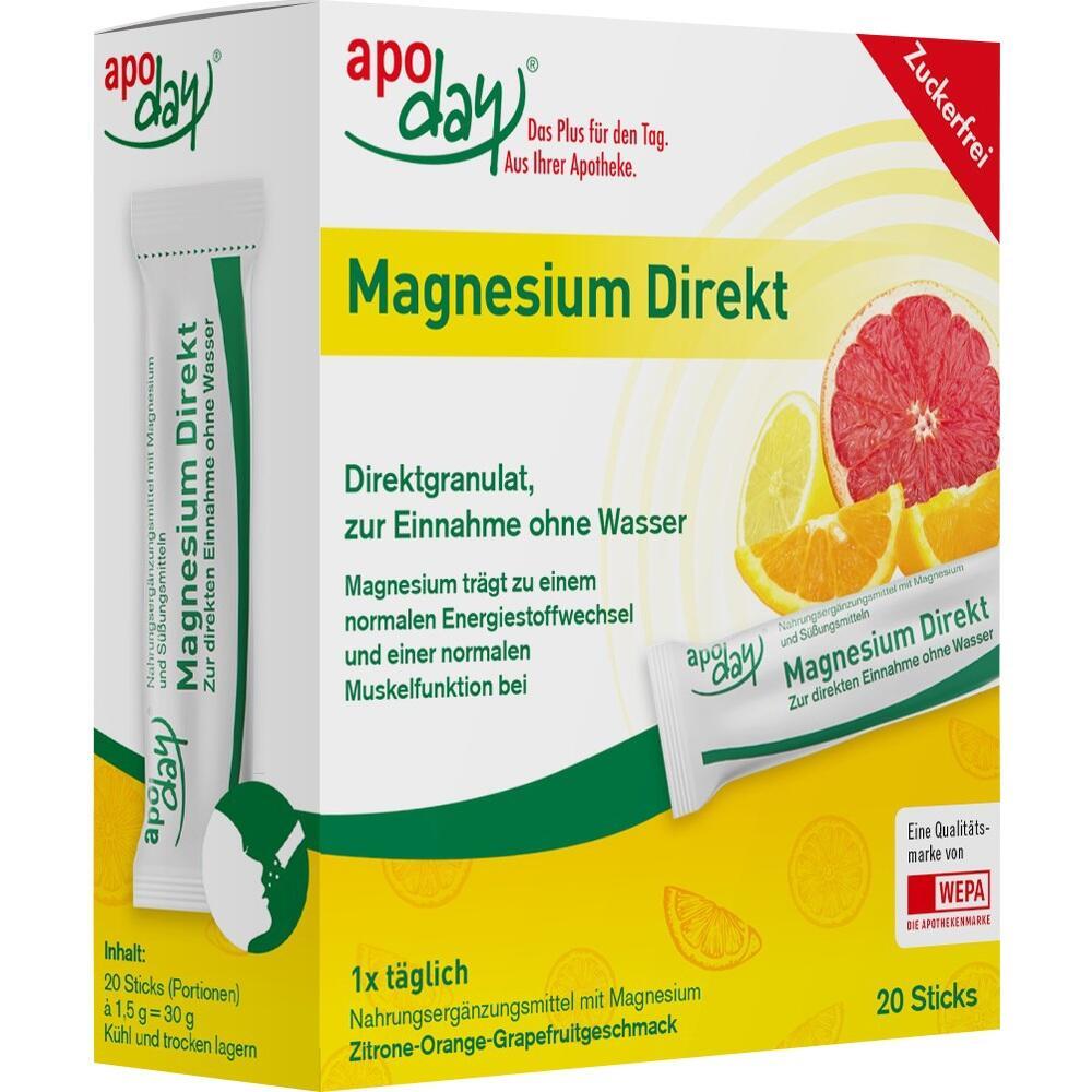 APODAY Magnesium Direkt Sticks