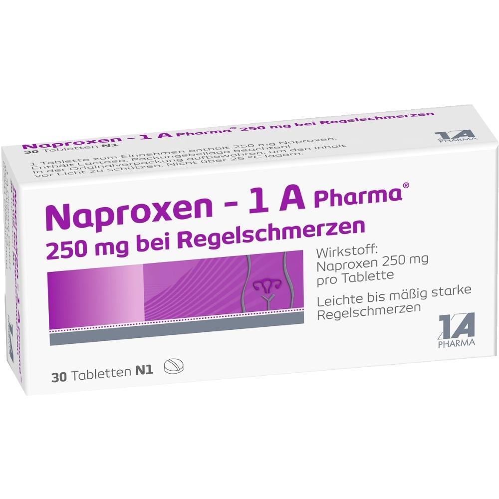 NAPROXEN-1A Pharma 250 mg b.Regelschmerzen Tabl.