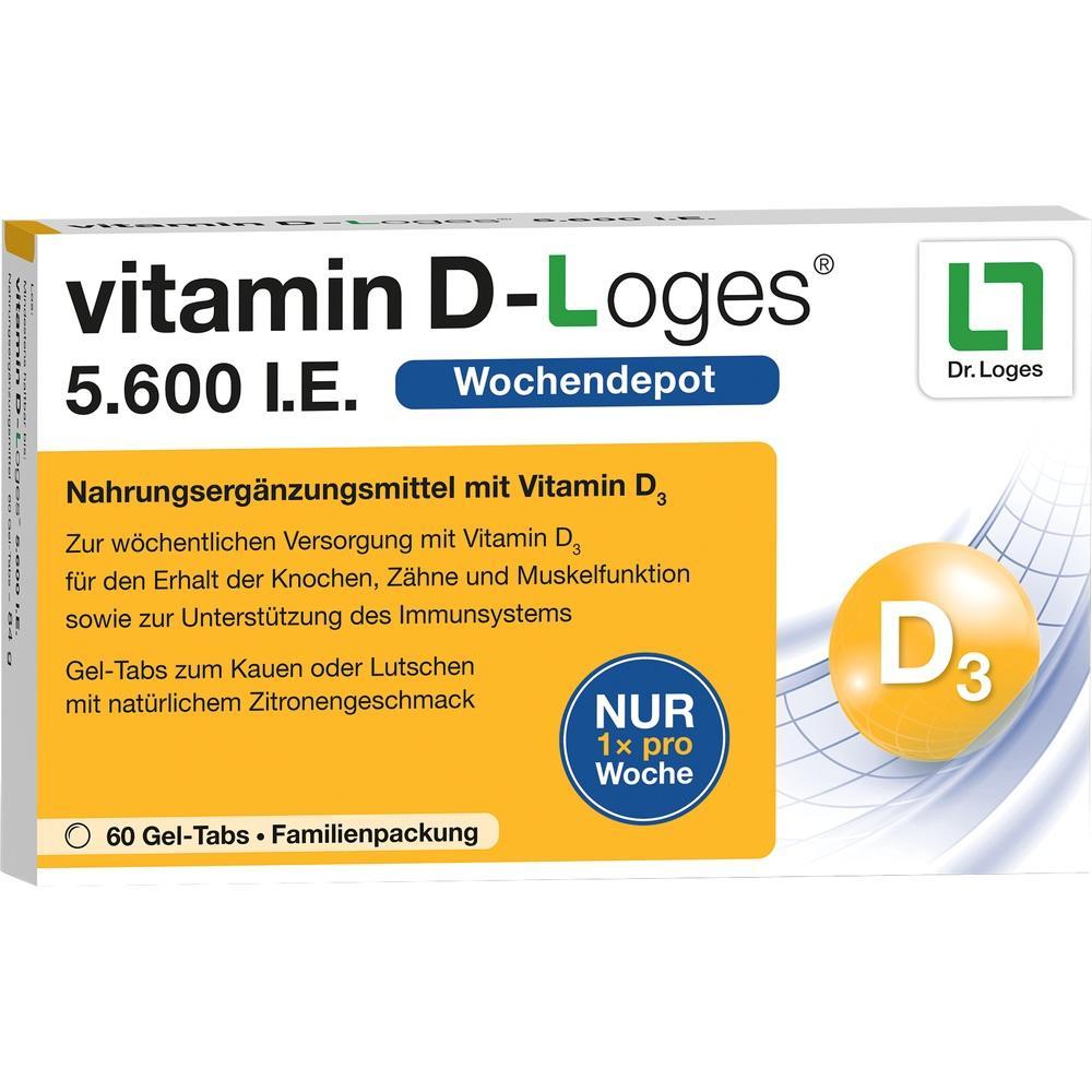 VITAMIN D-LOGES 5.600 I.E. Wo.Depot Kautabl.Fam.Pa
