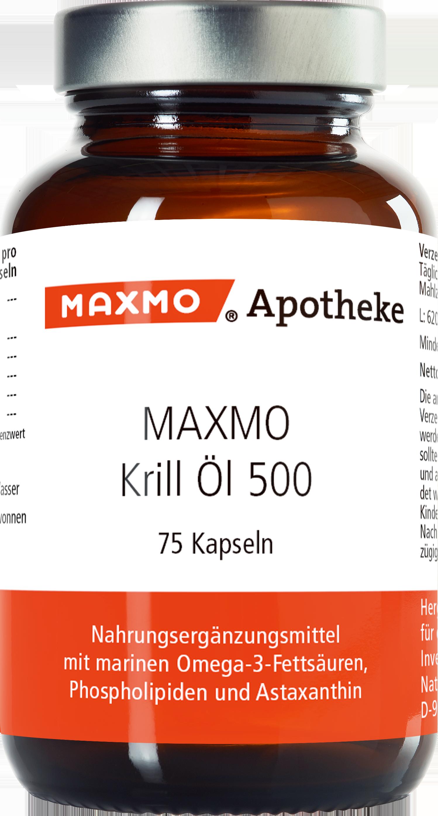 MAXMO Krill Öl 500 Kapseln